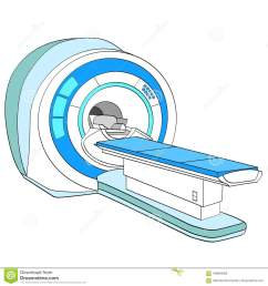 ct scanner computerized tomography scanner mri magnetic resonance imaging machine medical equipment object on white background vector [ 1300 x 1390 Pixel ]