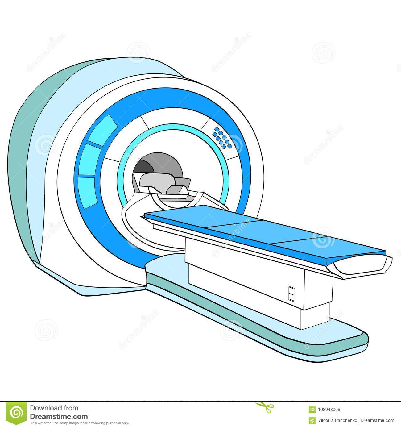 hight resolution of ct scanner computerized tomography scanner mri magnetic resonance imaging machine medical equipment object on white background vector