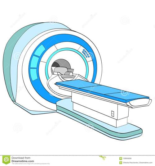 small resolution of ct scanner computerized tomography scanner mri magnetic resonance imaging machine medical equipment object on white background vector