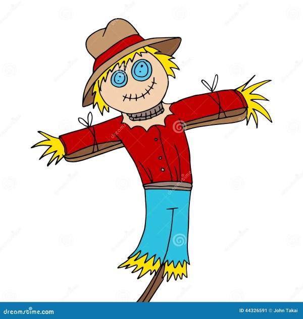 scarecrow cartoon stock vector
