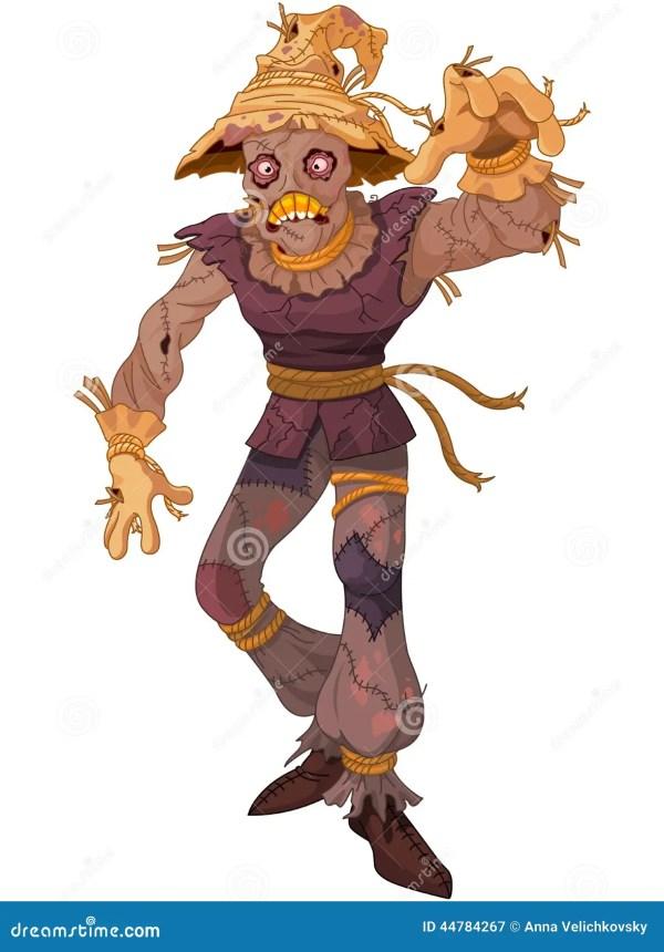 scarecrow stock vector. illustration