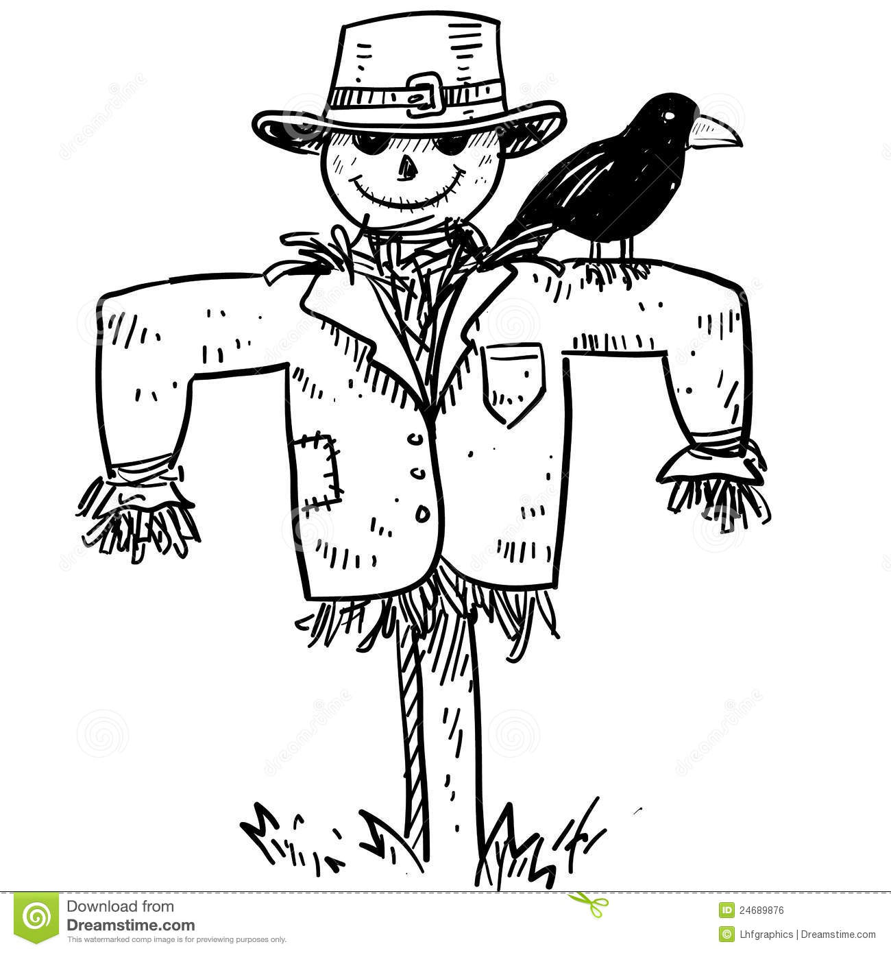 Scarecrow Vector Stock Vector Illustration Of Gardening