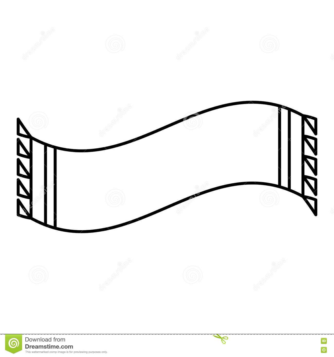 Scarf icon, outline style stock vector. Illustration of
