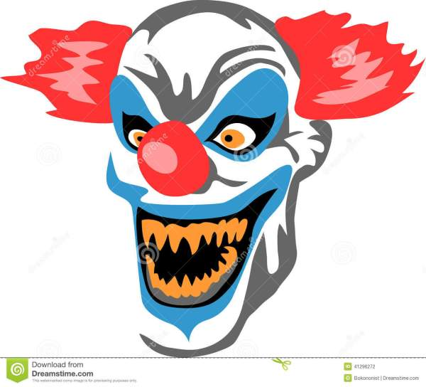 scary clown stock vector