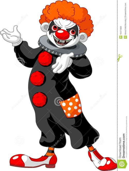 small resolution of scary halloween clown presenting
