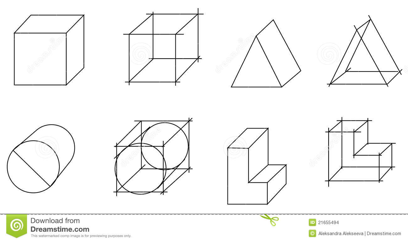 Scheme Of Geometrical Objects Stock Vector
