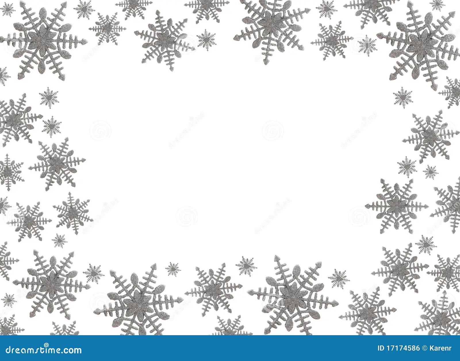 Schneeflocke Rand Stockfoto Bild Von Blau Freude