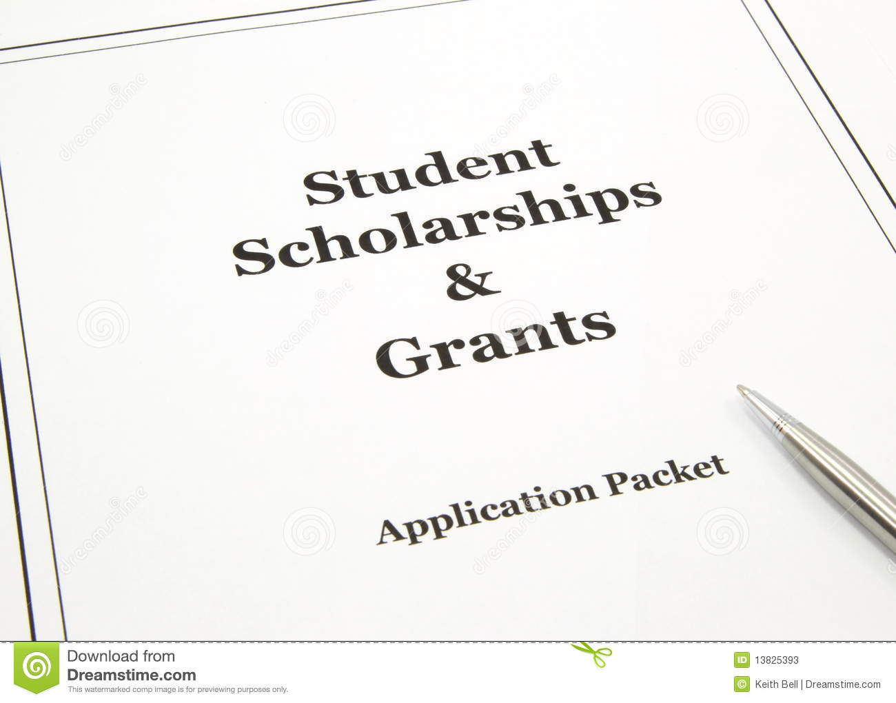 Scholarship And Grants Application Packet Stock Image