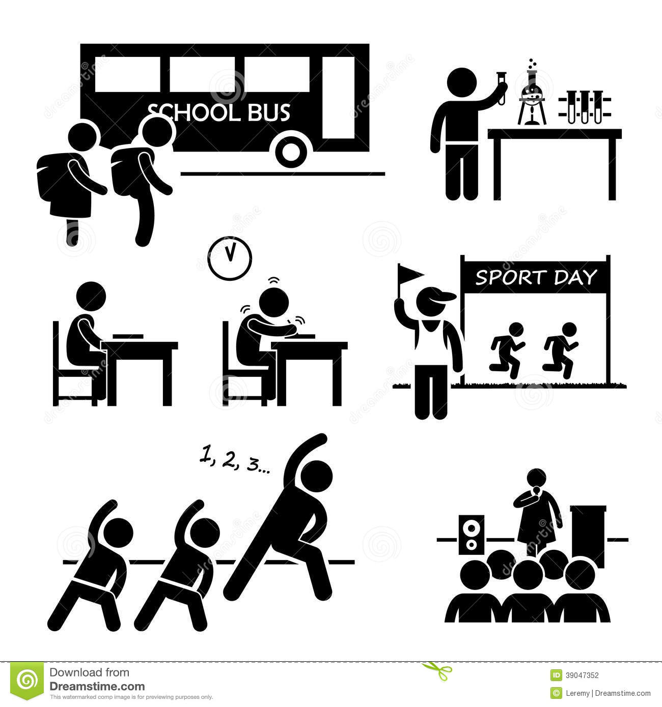 School Activity Event For Student Clipart Stock Vector