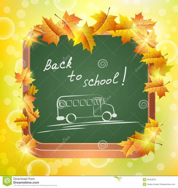 School Board Stock Vector. Illustration Of Season Fall