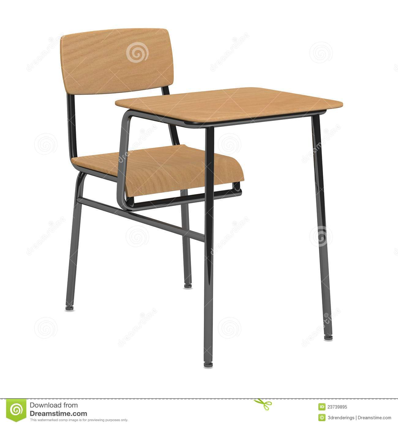 School Table And Chairs School Chair And Table For A Single Person Royalty Free