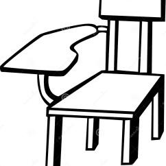 Office Chair Illustration Metal Reclining Garden Chairs School Vector Stock