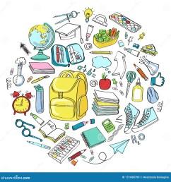 school clipart vector doodle school icons symbols [ 1300 x 1390 Pixel ]
