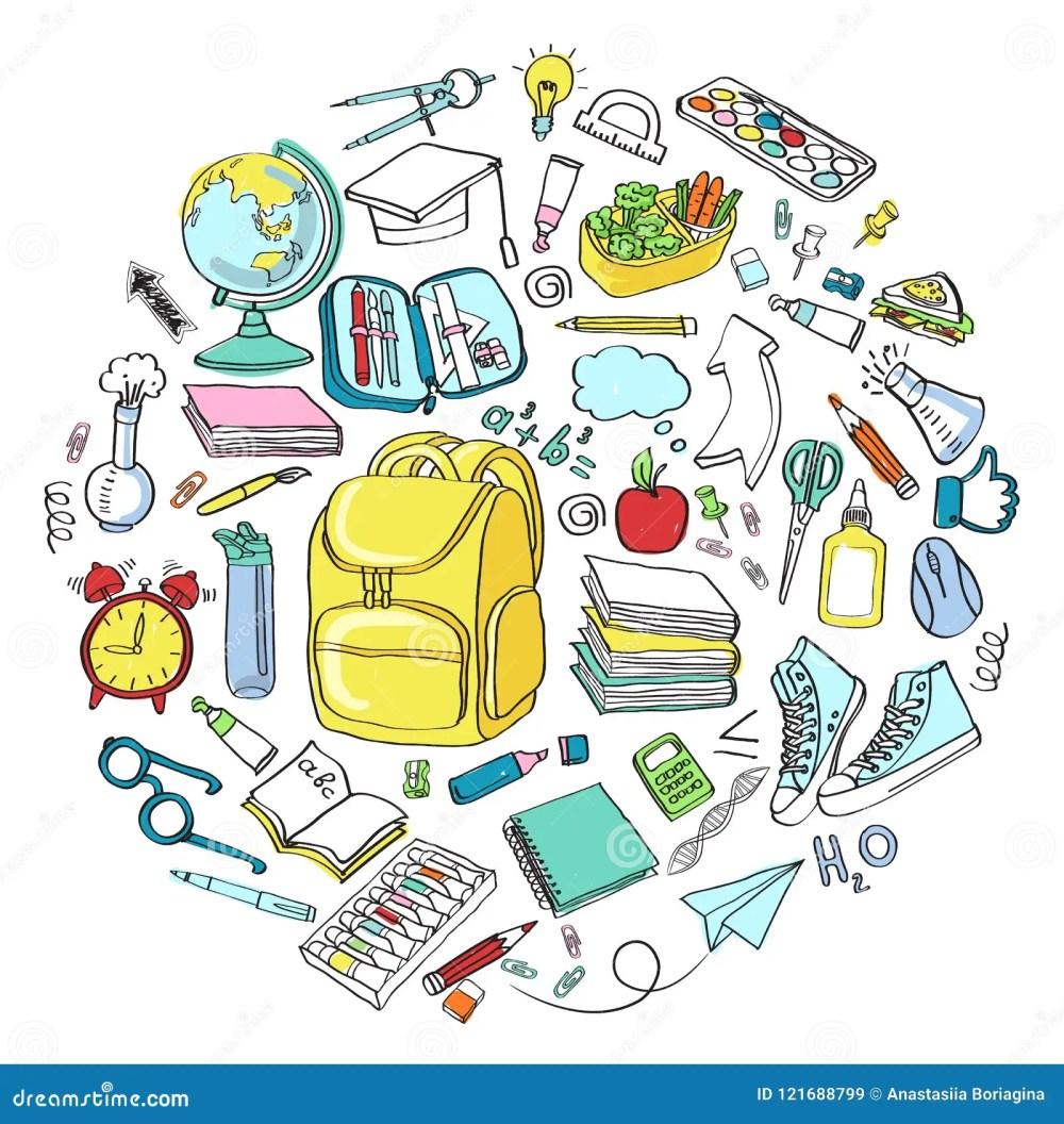 medium resolution of school clipart vector doodle school icons symbols