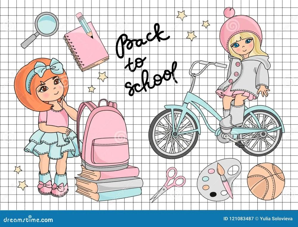 medium resolution of school clipart vector illustration set go to school