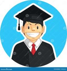 college graduation vector cartoon boy student graduating drawn scuola junge staffelung schule jongen graduatie universiteit istituto ragazzo graduazione universitario dell