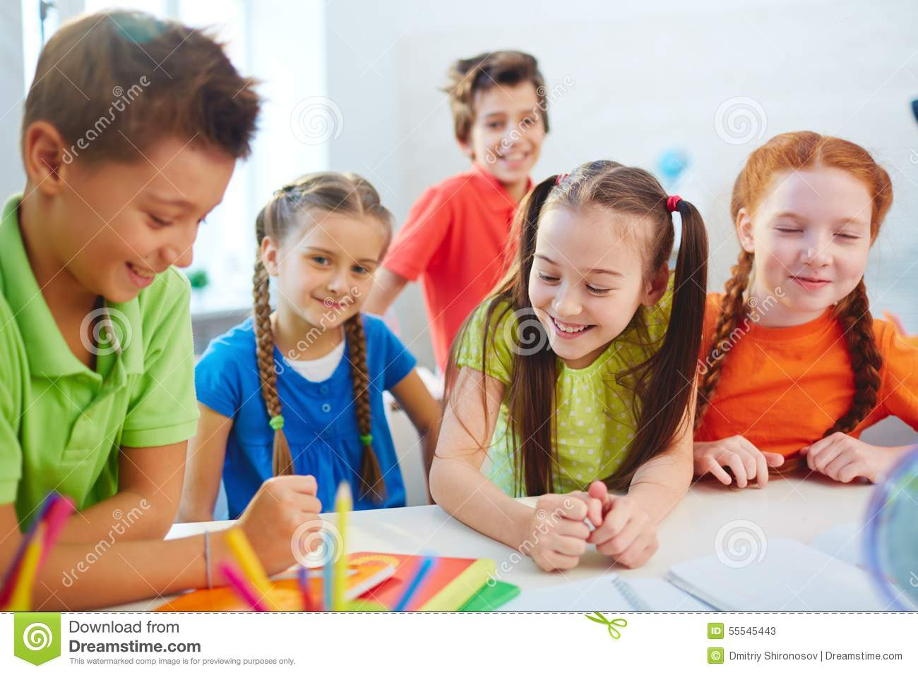 School Friends Talking Stock Image Image Of Girl