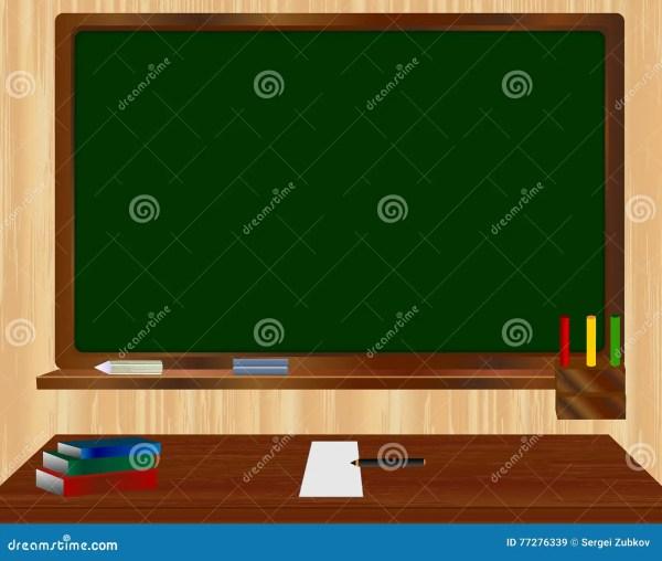 School Green Board. Vector Illustration. Stock