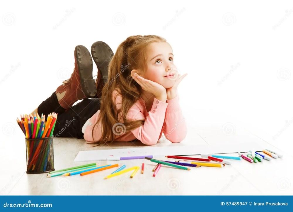 medium resolution of school kid thinking education inspiration child girl dreaming