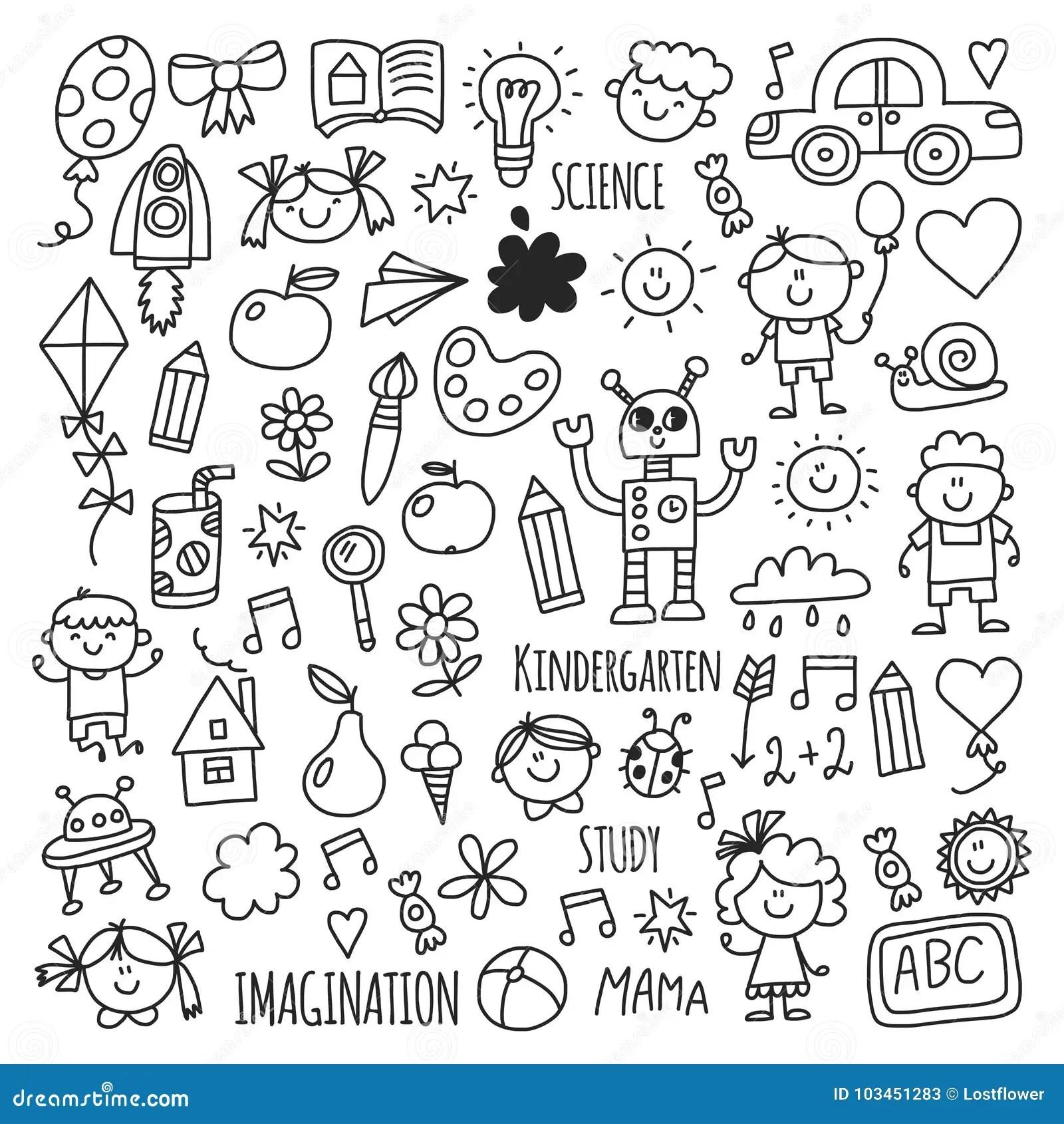 School Kindergarten Happy Children Creativity