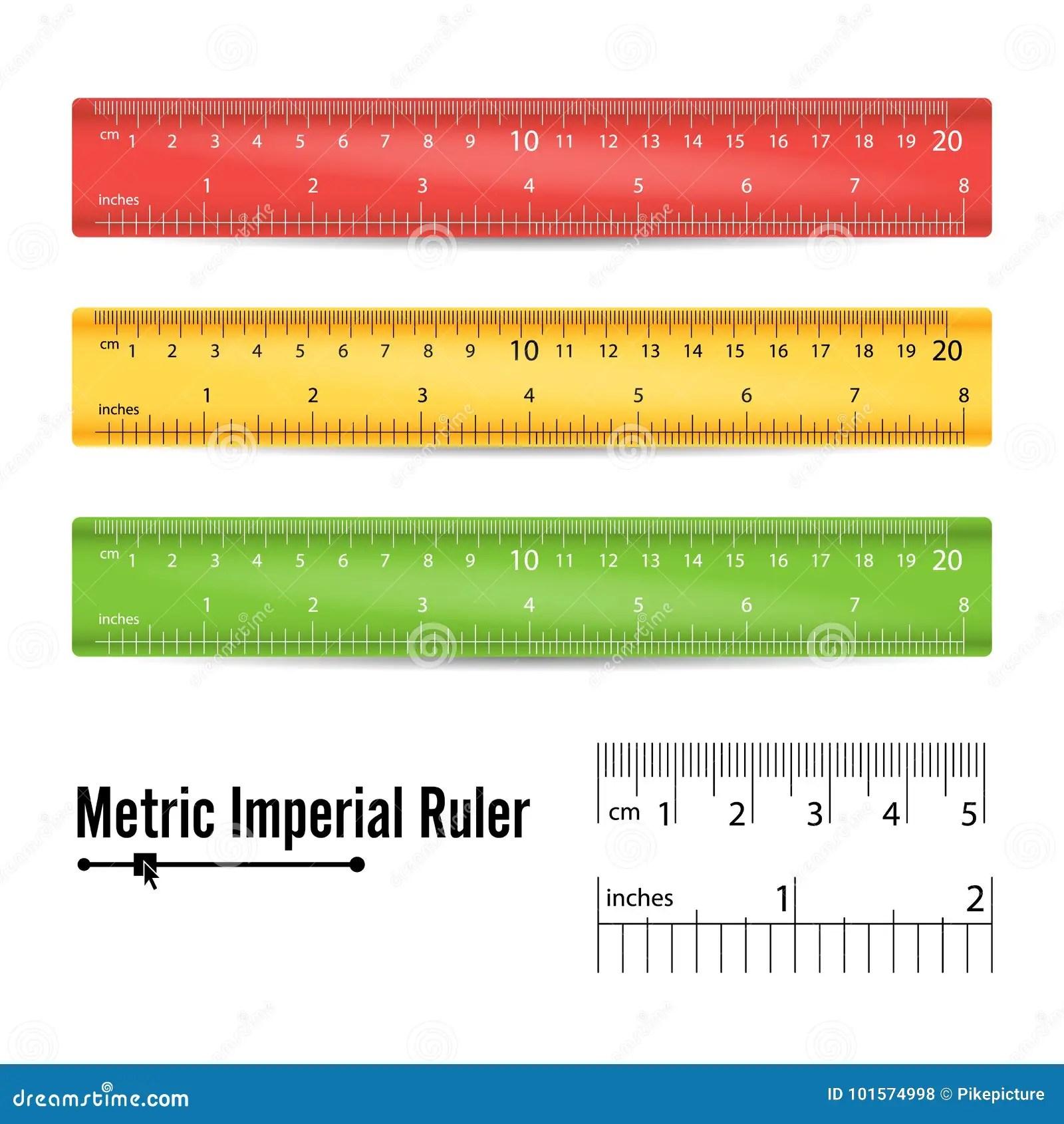 School Measuring Ruler Vector Measure Tool Millimeters