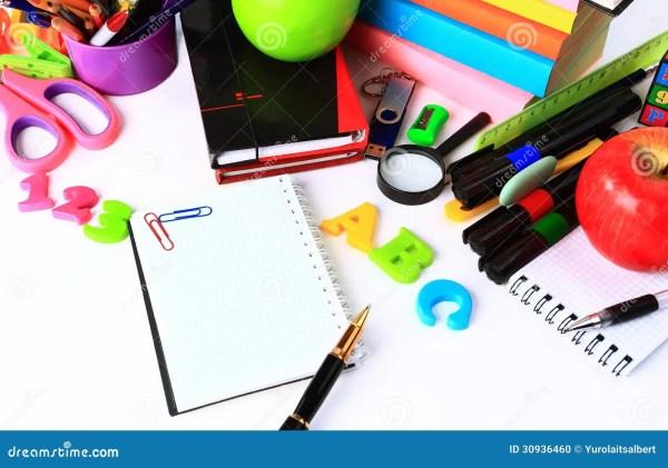 School Stationery Stock Of Book Draw
