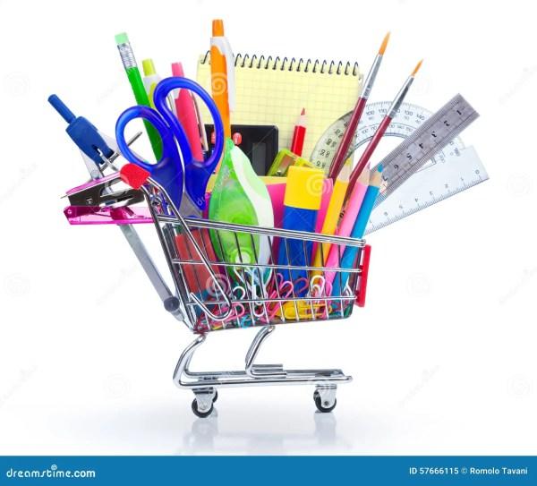 School Supplies Shopping Cart