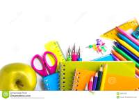 School Supplies On White Background Stock Photo - Image ...