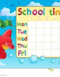 School timetable thematic image also stock vector illustration of rh dreamstime