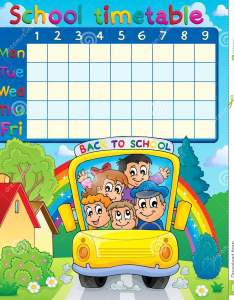 School timetable topic image also stock vector illustration of draw rh dreamstime