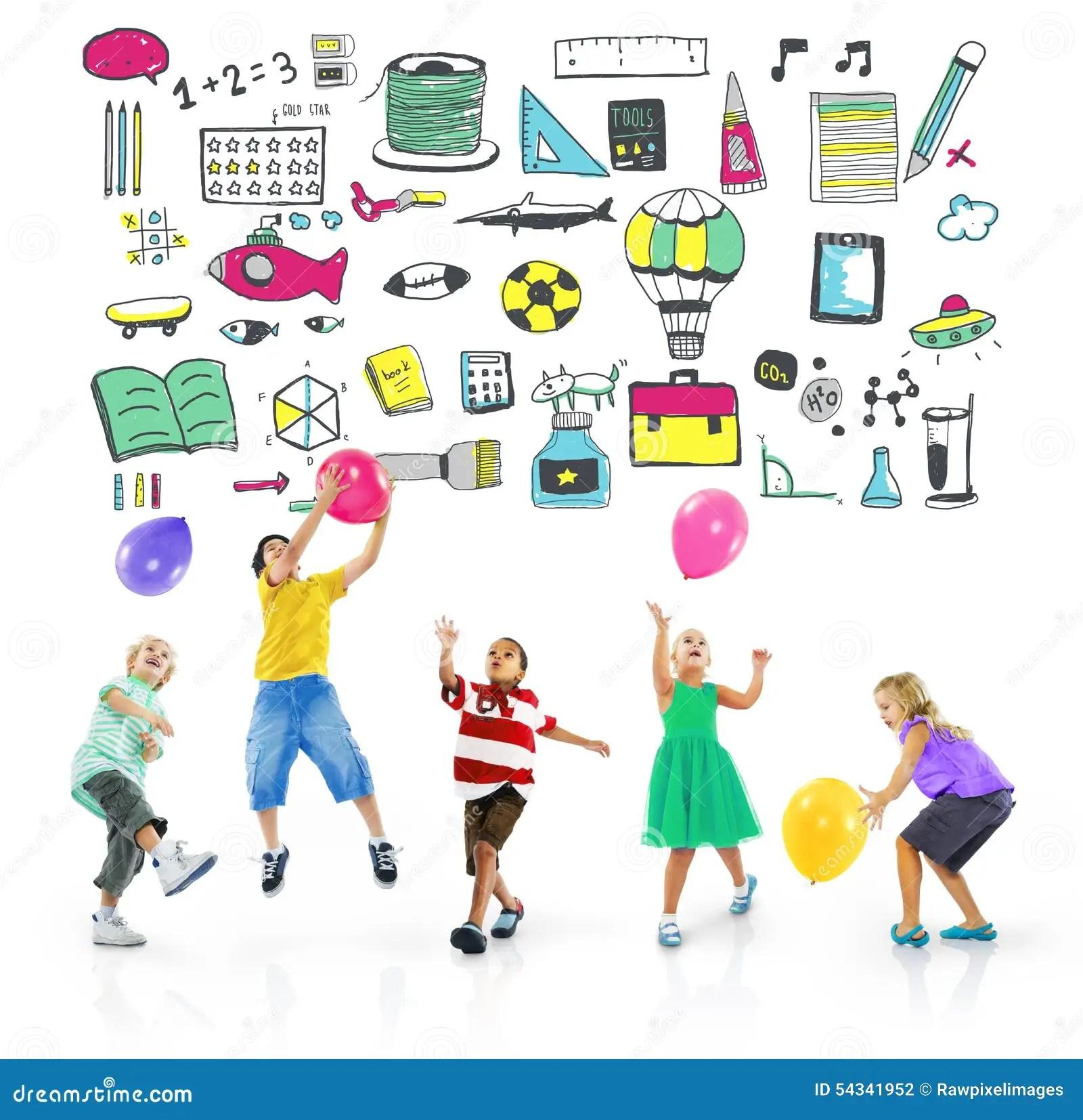 Schulaktivitats Sport Hobby Freizeit Spiel Konzept