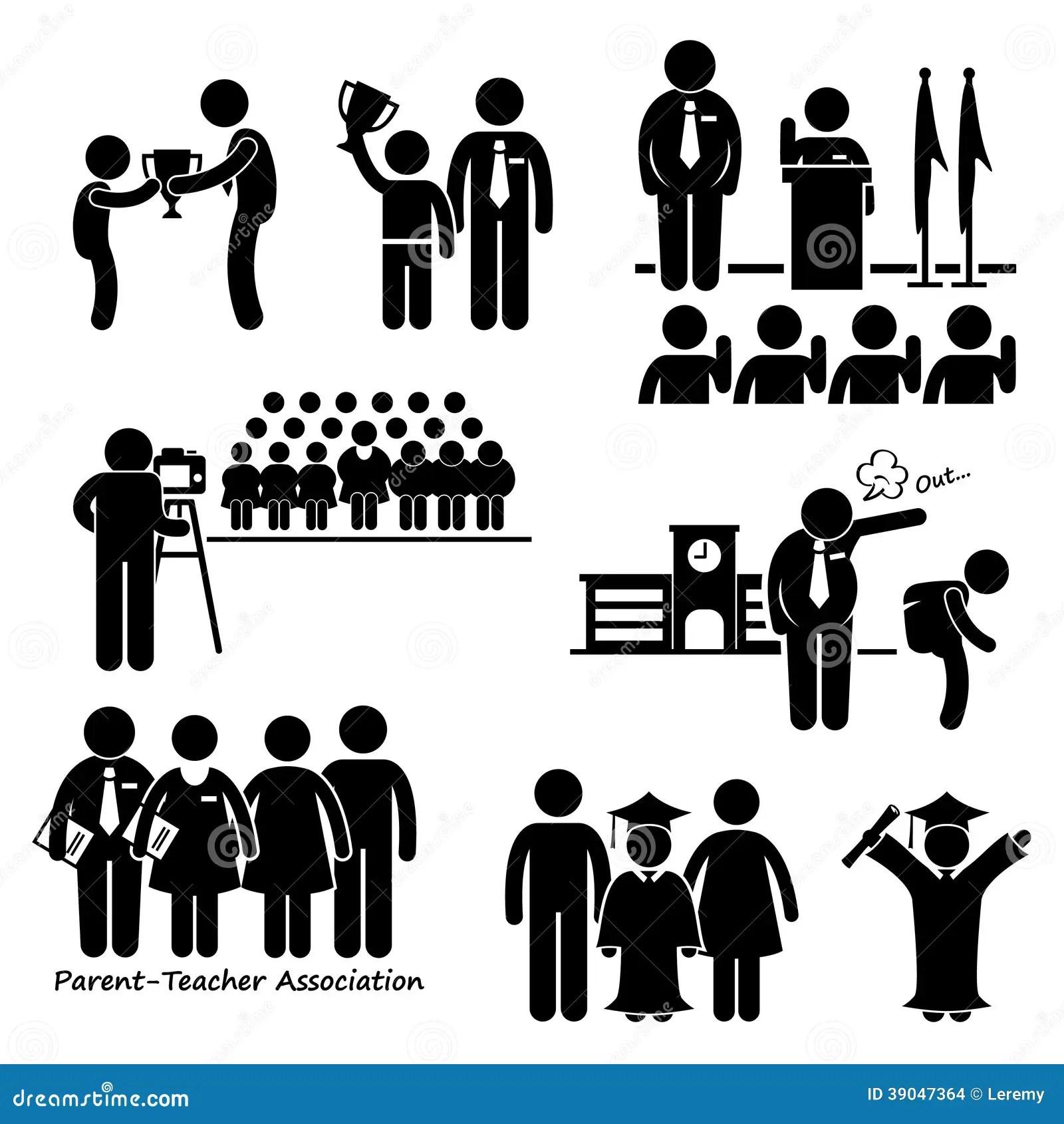 Schulveranstaltungen Clipart Vektor Abbildung