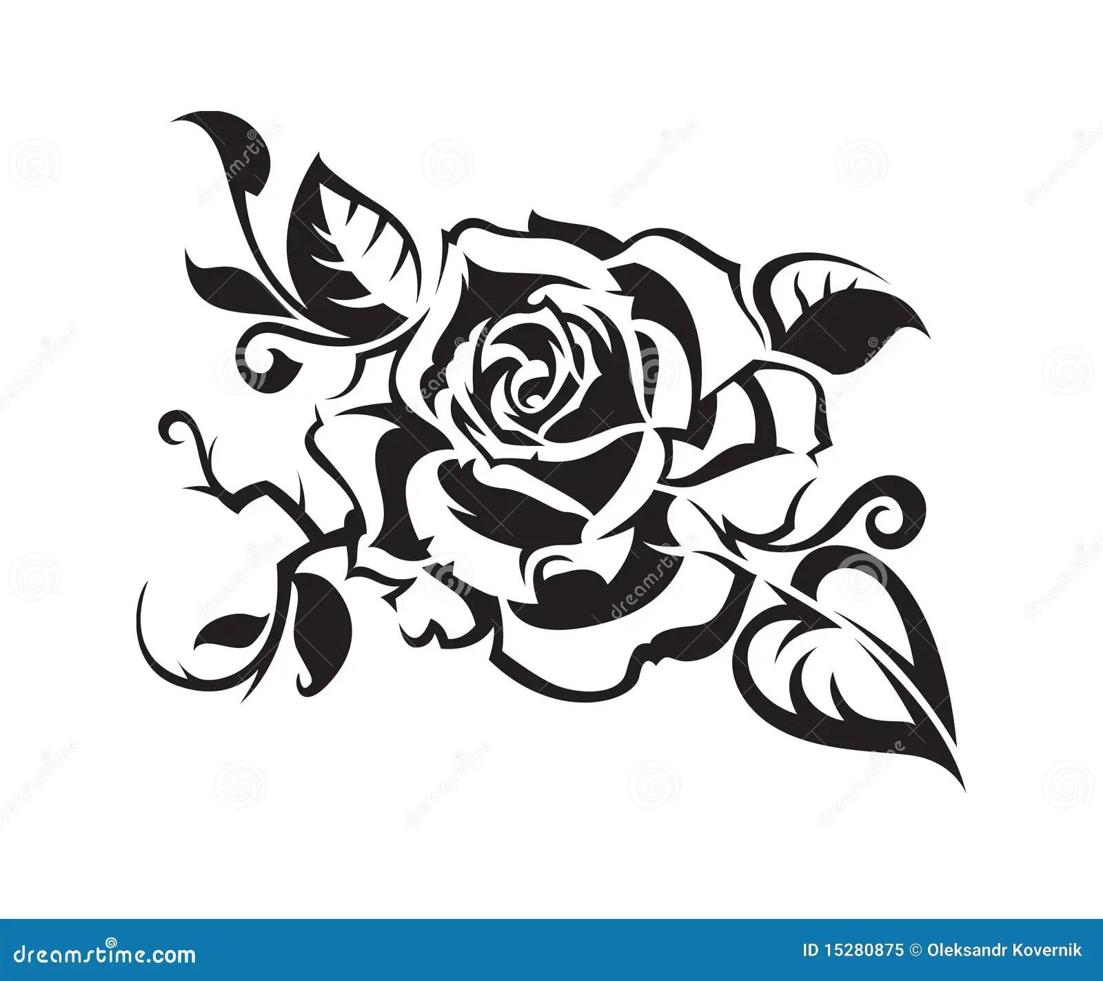 Schwarzes stieg vektor abbildung Illustration von symbol
