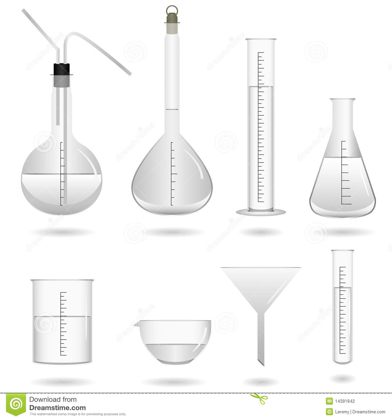 Science Chemical Lab Equipment Stock Vector