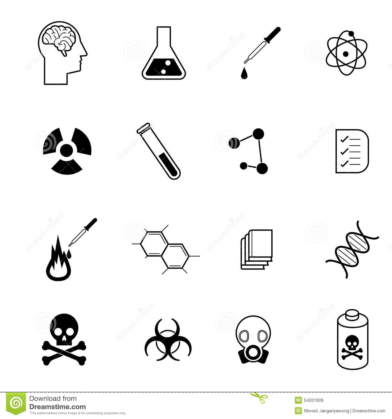 Science And Chemistry Icon Set Vector Illustration Stock