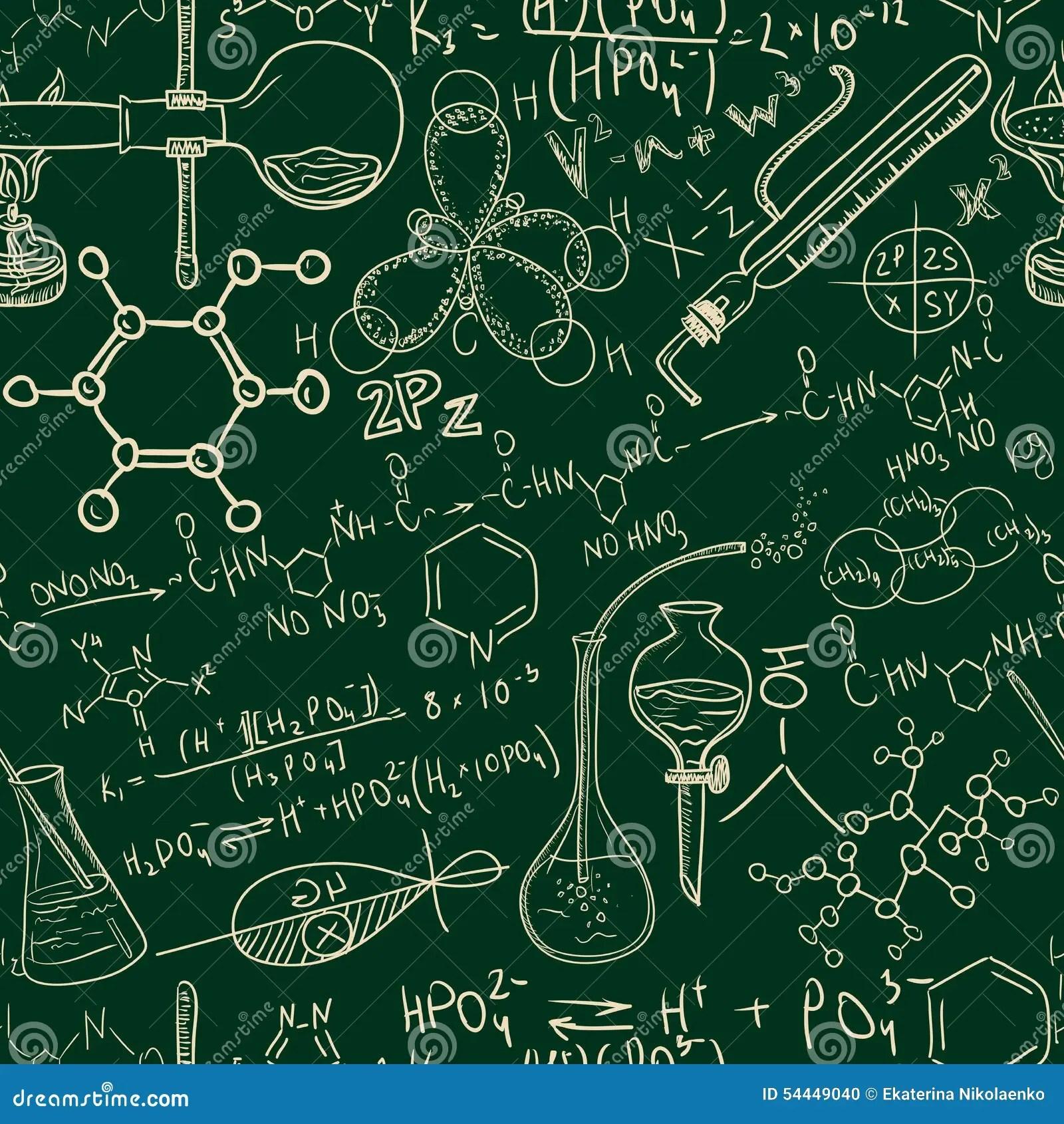 Science Chemistry Old Laboratory Seamless Pattern Vintage