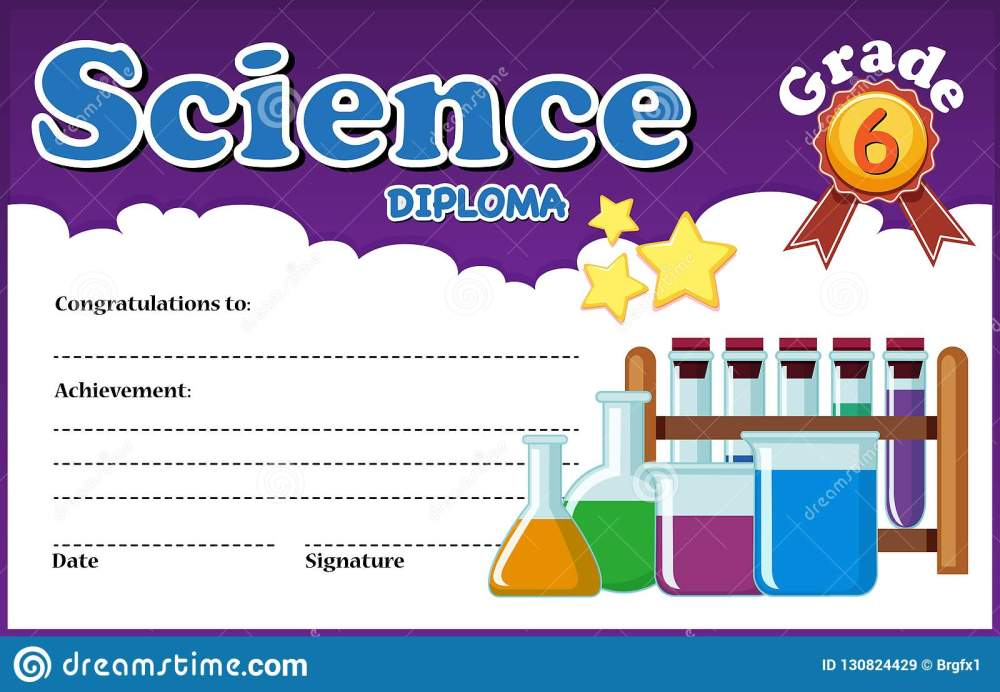 medium resolution of science diploma certificate template