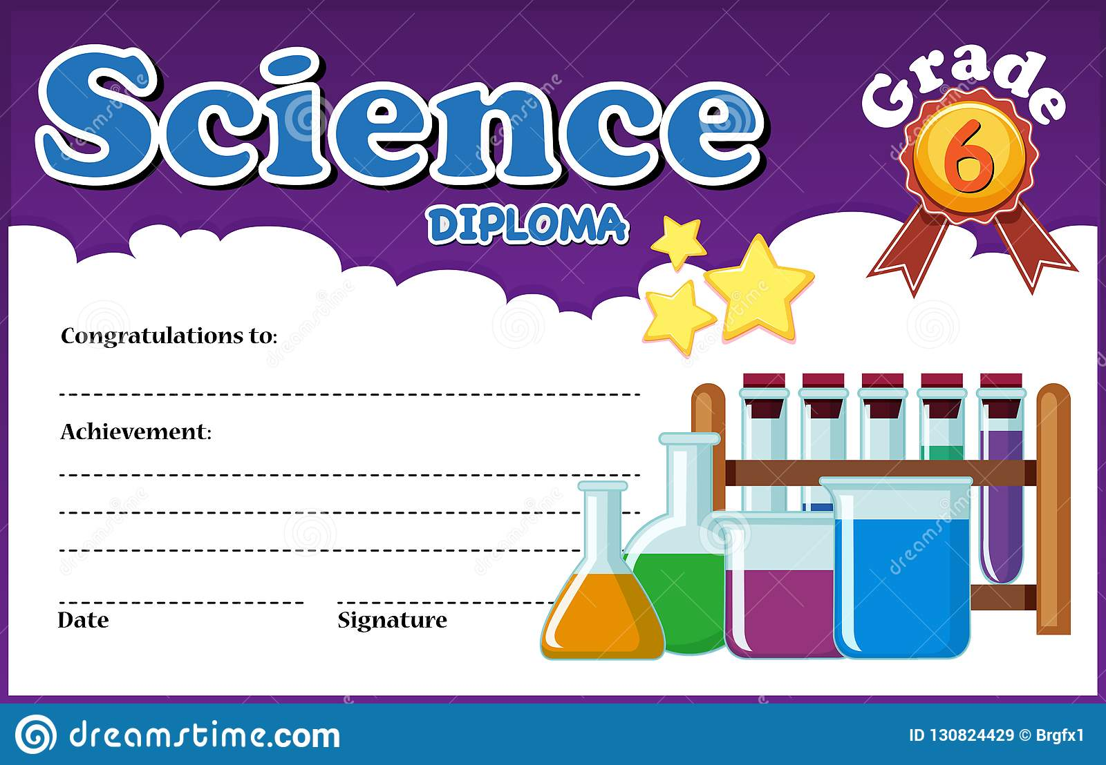 hight resolution of science diploma certificate template