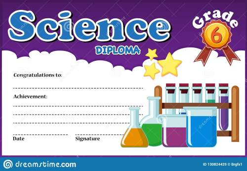 small resolution of science diploma certificate template