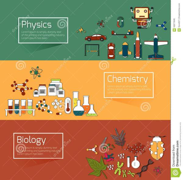 Science Education Infographic Banner Template Layout