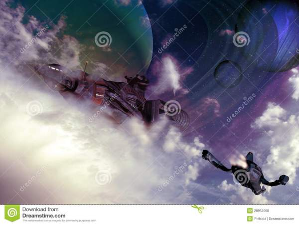 Science Fiction Skies Stock - 28952060