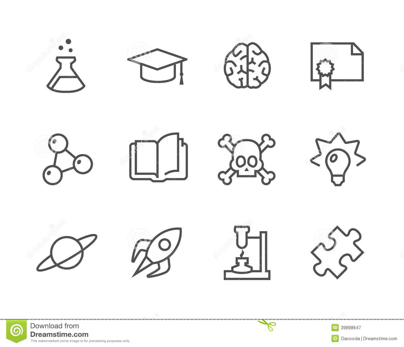 Science Icons Stock Vector Illustration Of Equipment