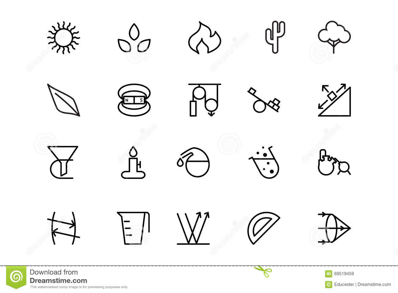 Science Line Vector Icons 7 Stock Illustration