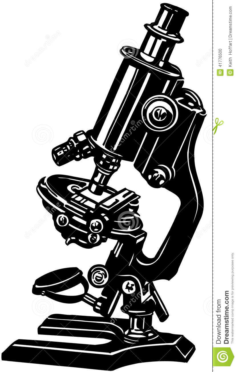 hight resolution of science microscope cartoon vector clipart