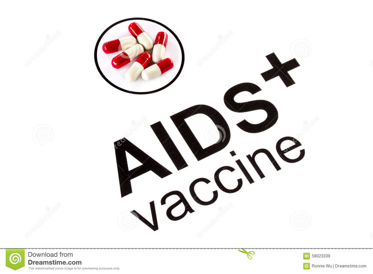 Science Research By Aids Oral Vaccine Capsule Hiv Stock
