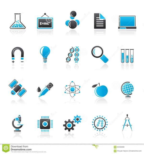 Science And Education Icons Stock Vector