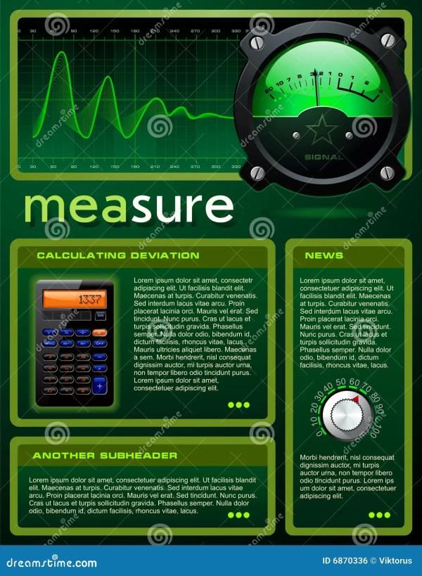 Science-themed Brochure Stock Vector. Illustration Of