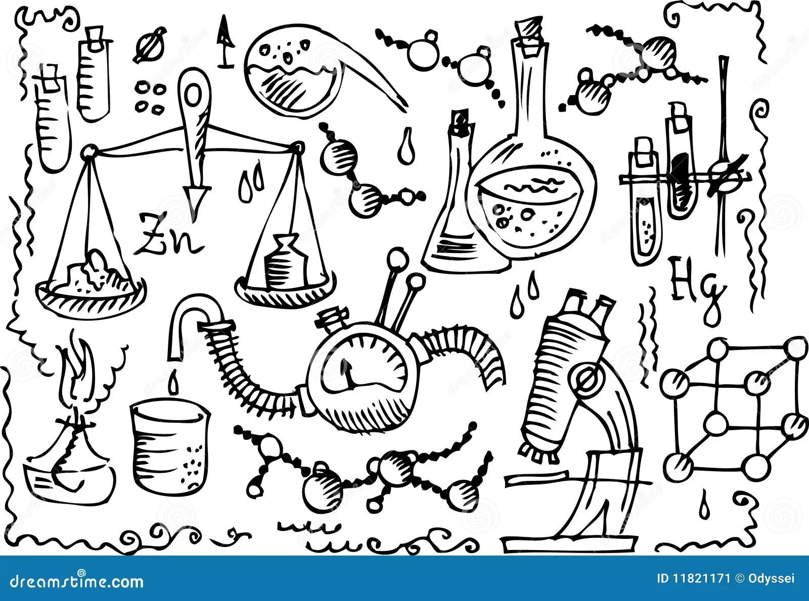 Scientific Lab Iv Stock Vector Illustration Of
