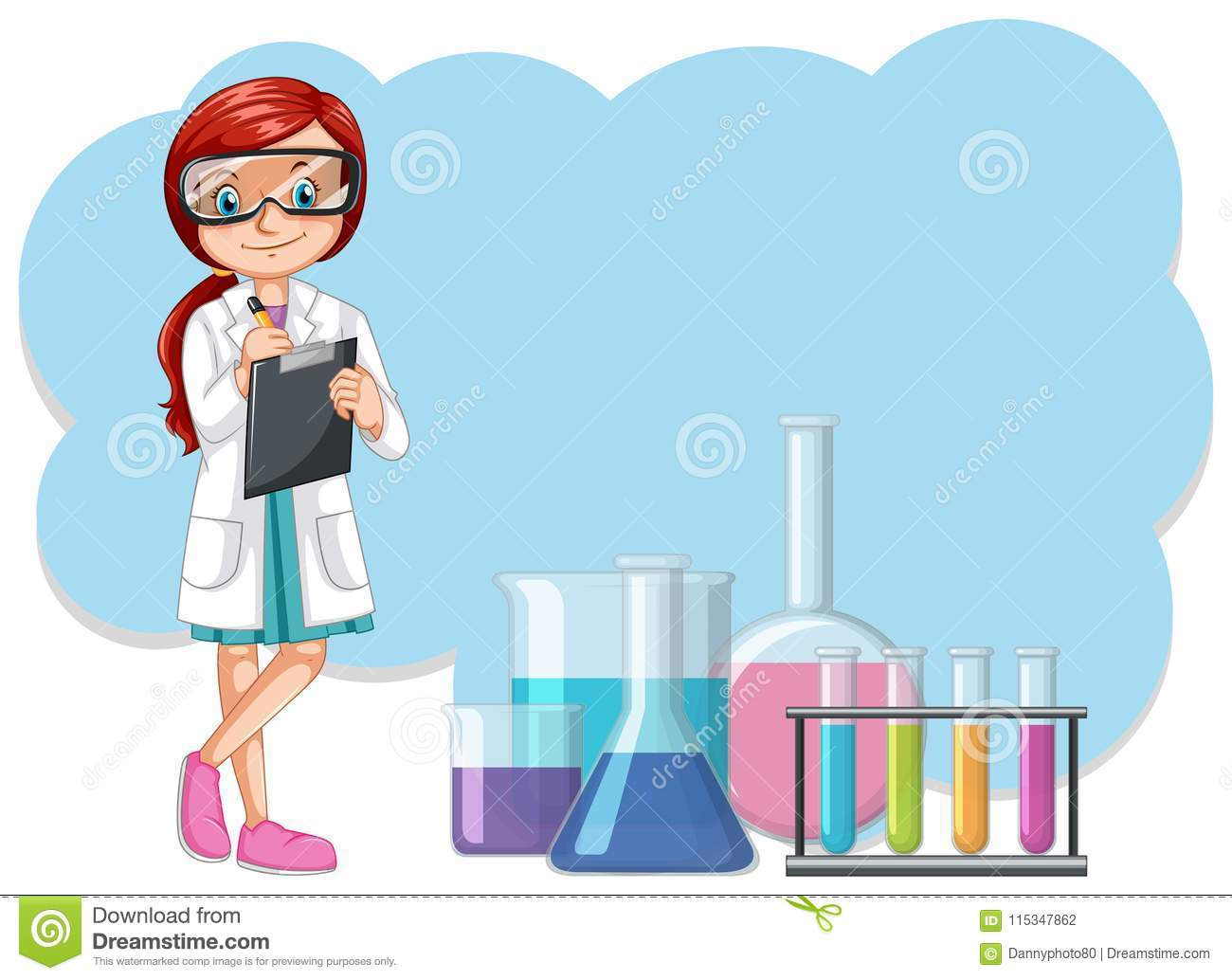 hight resolution of a scientist and laboratory equipments