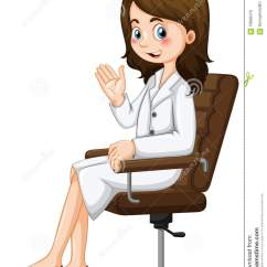 Sit In Your Chair Resin Patio Lounge Chairs Scientist Sitting On Stock Vector Illustration Of
